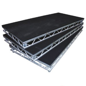 Performance spaces, stage podiums and tiered seating to catwalks and camera platforms, custom designs available.